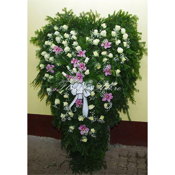 Coroana trandafiri albi