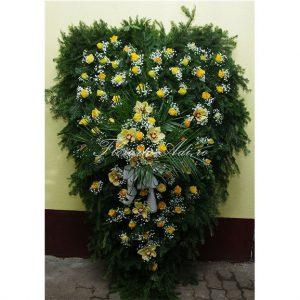 Coroana trandafiri galbeni si orhideea